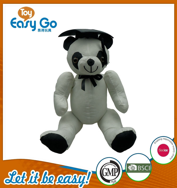 Customized white panda plush toys