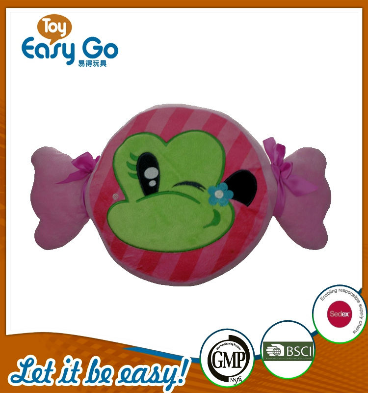 2016 new gift cartoon frog baby pillow plush toy