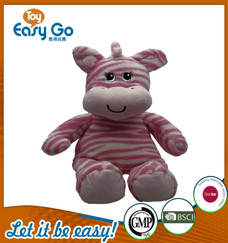 Customized pink hippo plush toys
