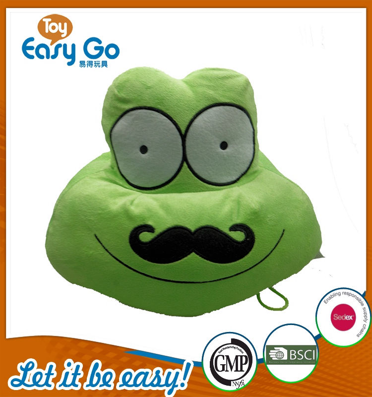 Customized green pillow plush toys