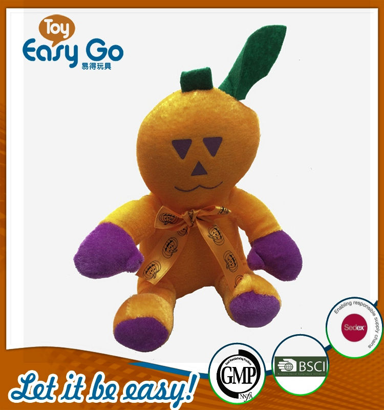 Customized lovely holloween festival pumpkin toys