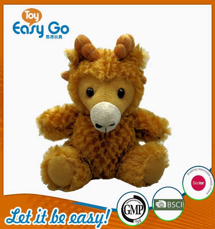 Customized Bsci OEKO plush brown sheep toys