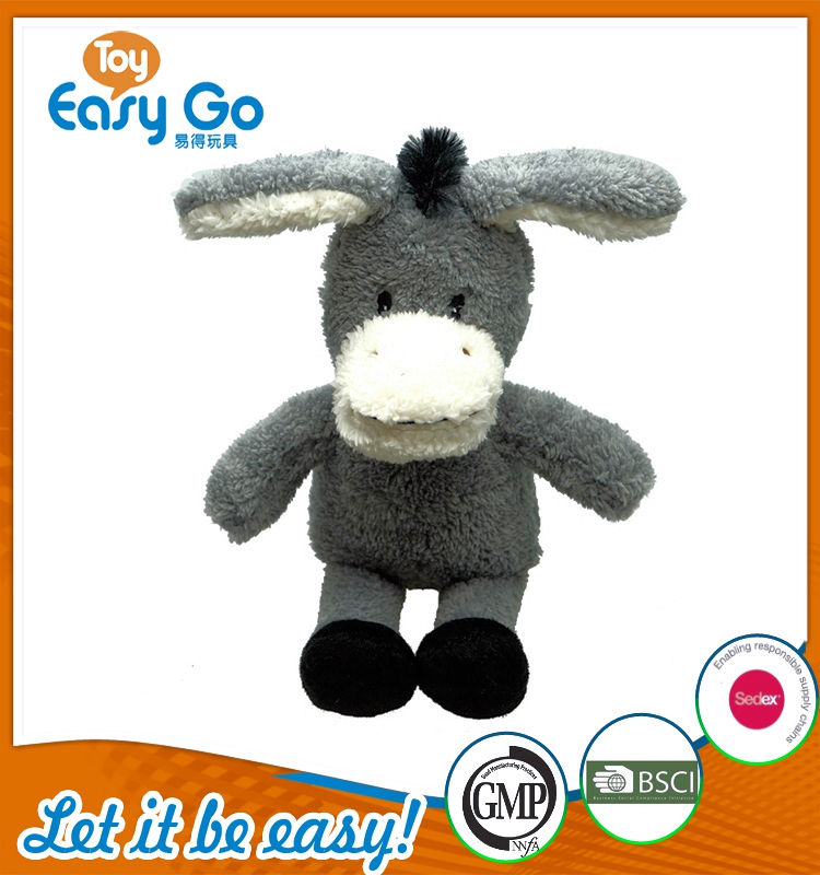 Customized Bsci GMP plush donkey toys