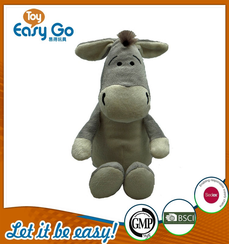 Customized SEDEX GMP soft donkey toys