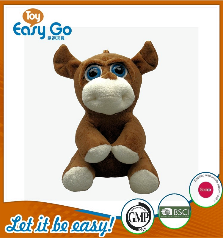 Customized SEDEX GMP big eyes soft cow toys