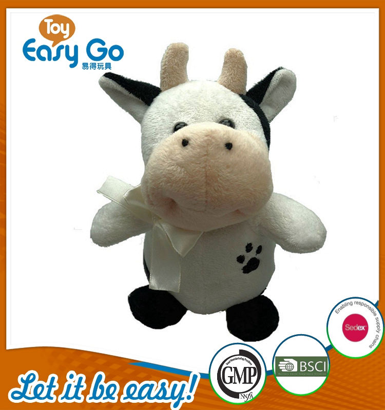 Customized Icti Bsci plush cow toys