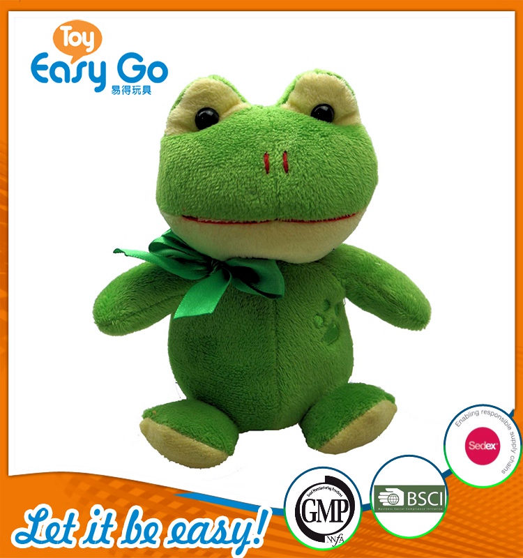 Customized GMP Bsci soft frog toys