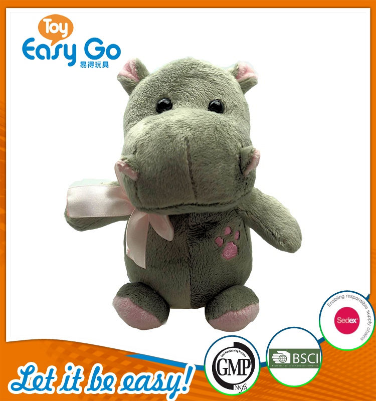Customized Sedex OEKO stuffed hippo toys