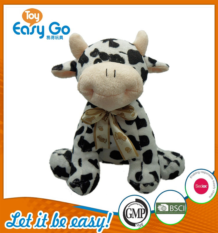 Customized SEDEX Icti cute soft milk cow toys