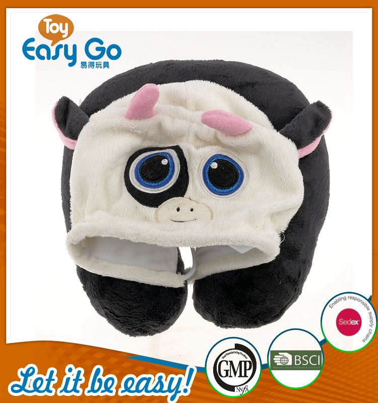 bsci hot selling lovely black pillow plush toys