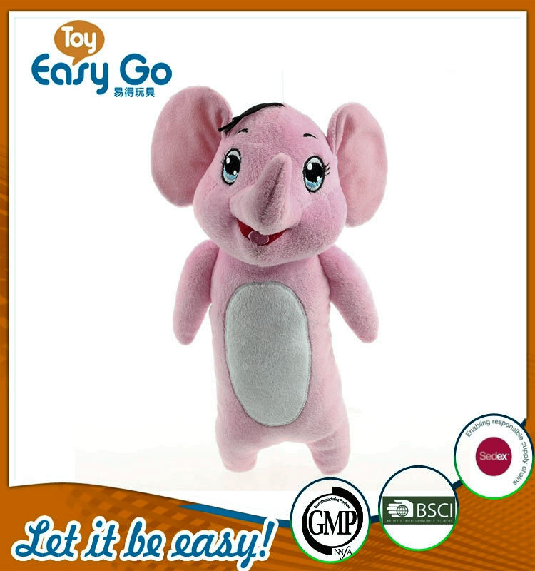 Oeko Audit high quality lovely pink elephant stuffed toys
