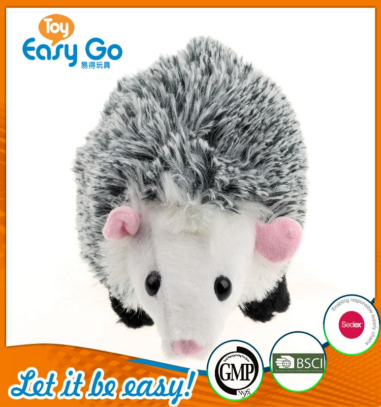 ICTI wholesale custom lovely hedgehog stuffed toys