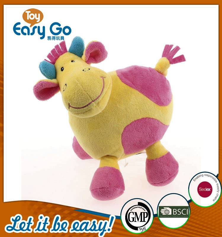 BSCI hot selling colorful lovely stuffed cow toys