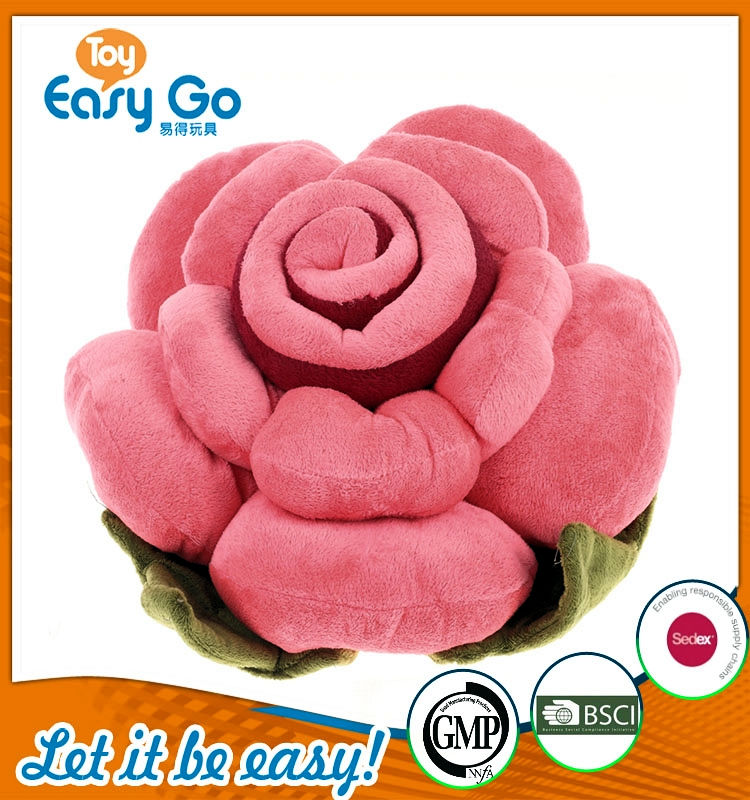 BSCI hot sale beautiful flower pillow plush toys