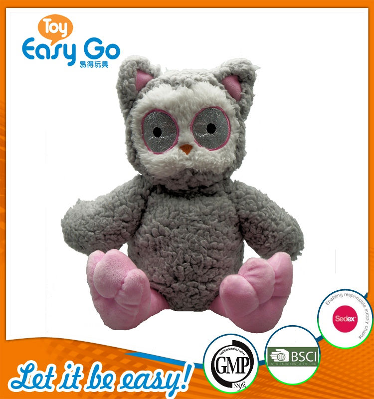 Customized Icti sedex Audit cute hot sell soft owl toys