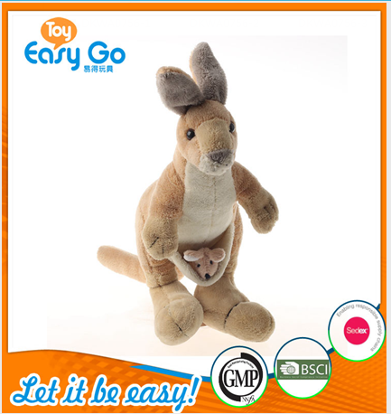 Customized WCA lovely kangaroo baby toys
