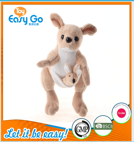 Customized GMP 2016 new type baby toys of mini kangaroo