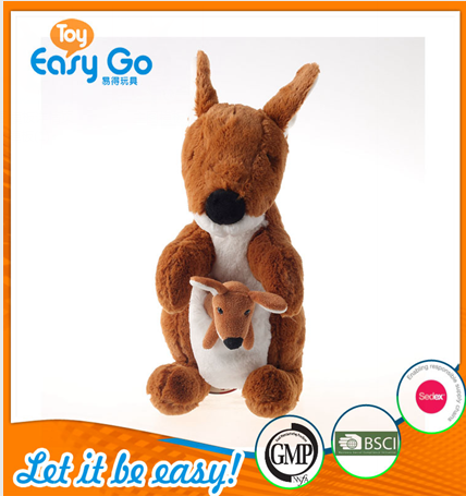 Customized GMP 2016 new type baby toys of kangaroo