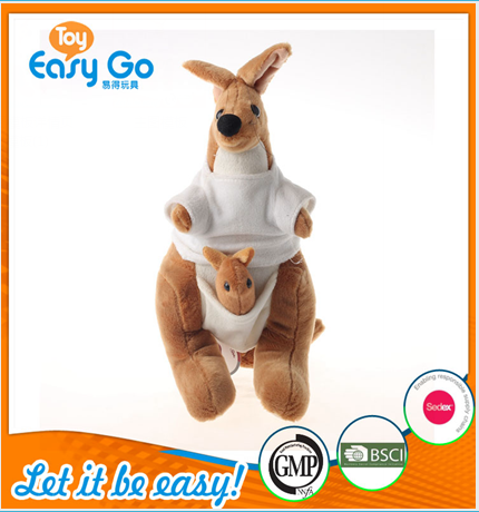 Customized hot sale 2016 kangaroo jumping plush toy
