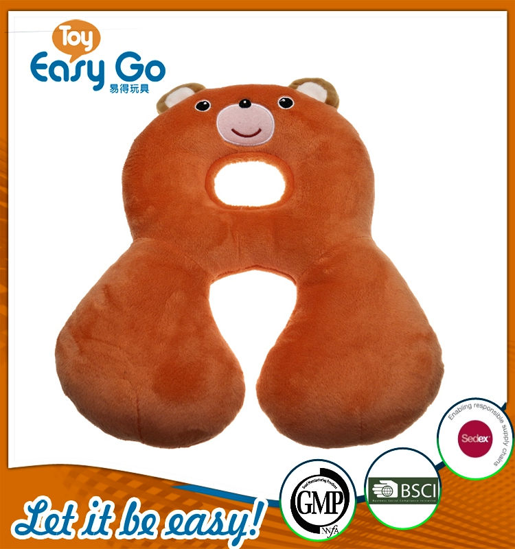 customized wholesale lovely soft animal u shape neck pillow