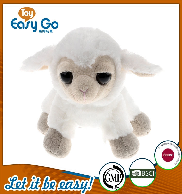 customized standing white lamb with big eyes