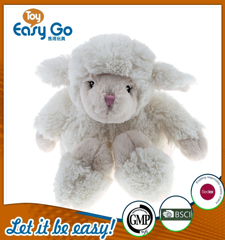 GMP customized sitting white sheep for baby