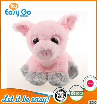pink pig toys with black eyes