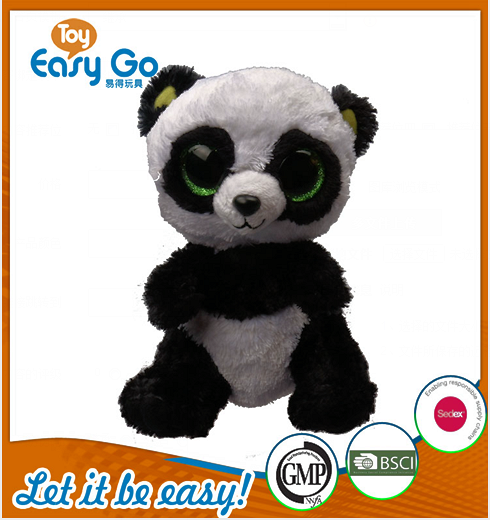 Customized hot sale sitting big eyes panda plush toys