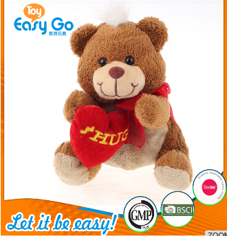 valentine brown bear with red heart toy