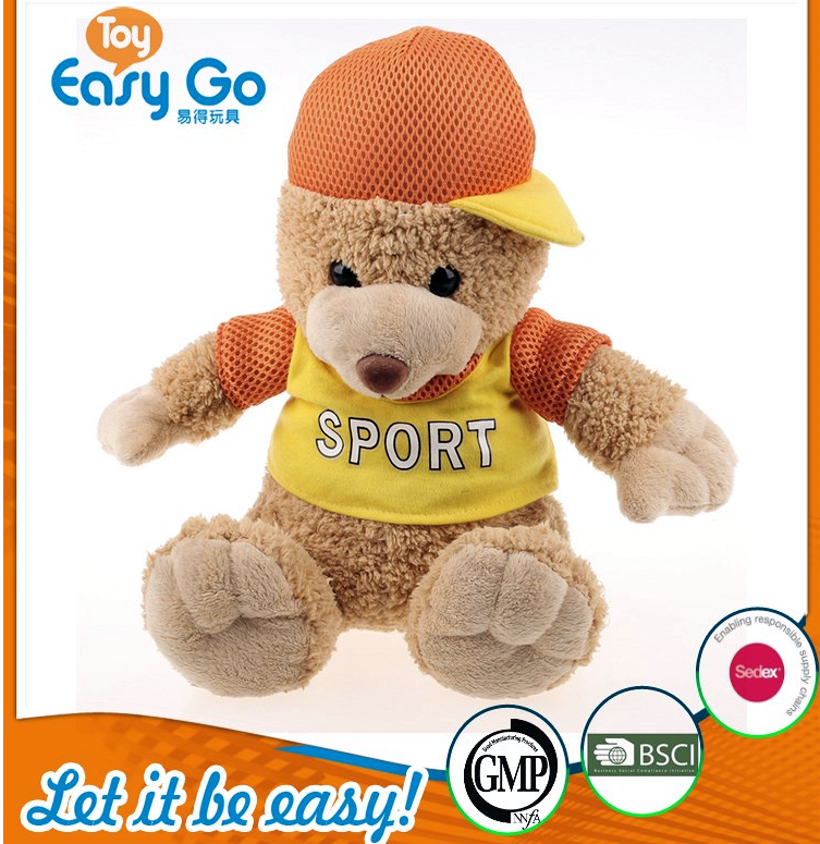 Customized manufacturer meet EN71 ASTM standard sports teddy