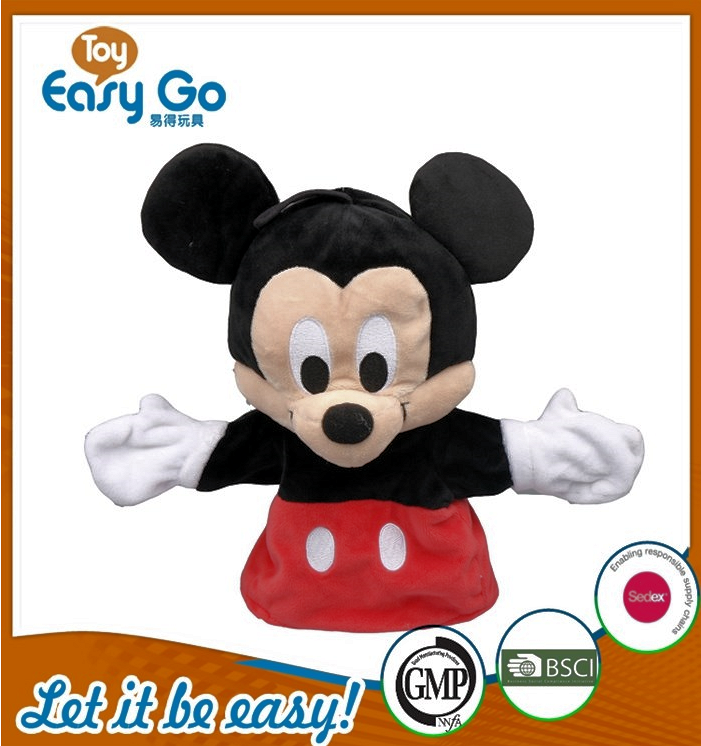 OEKO SEDEX wholesale soft Mickey puppet for baby