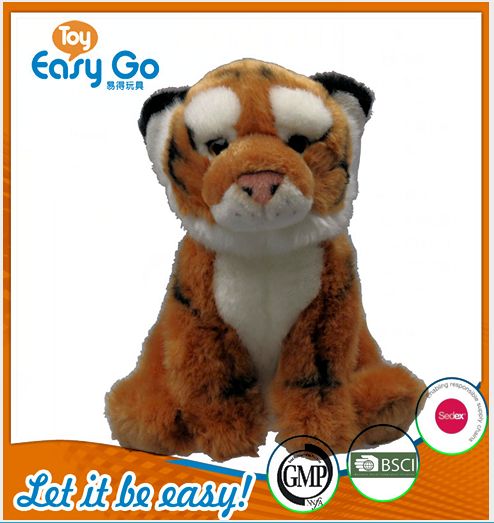 Customized Plush Toys ICTI Stuffed Baby Toys Soft Brown Tige