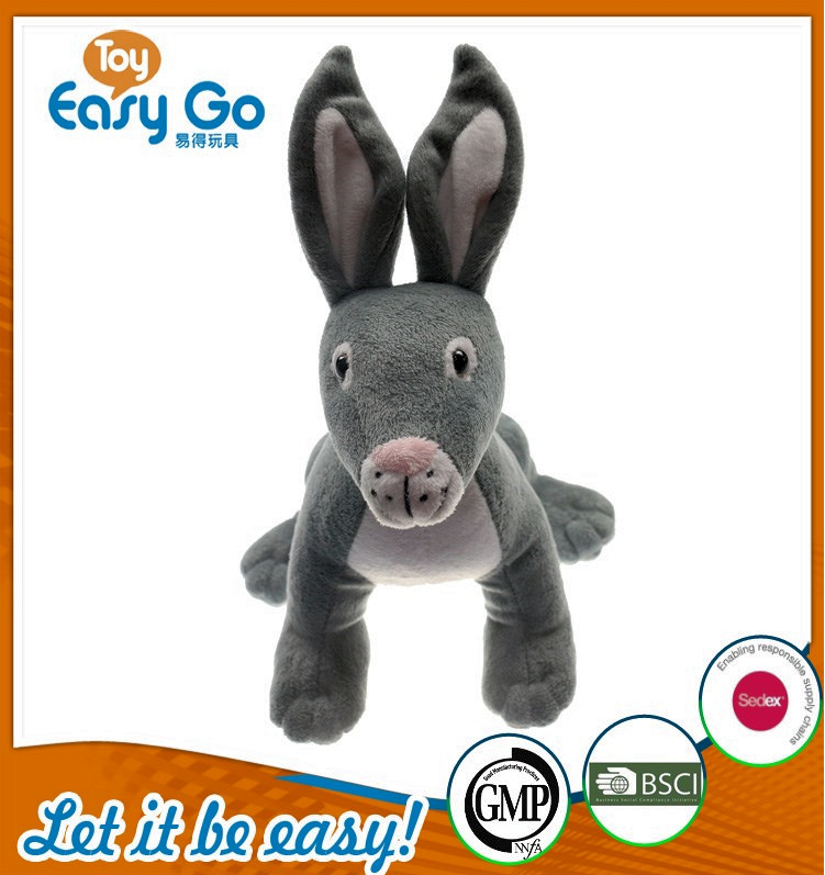 OEKO high quality stuffed grey donkey
