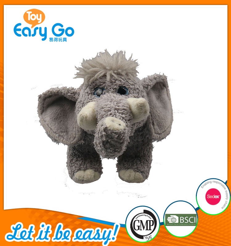 high quality customized production cute gray elephant plush
