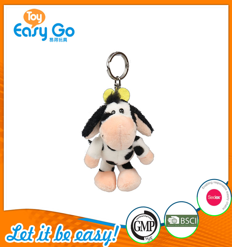 high quality customized production white and black cow keyri