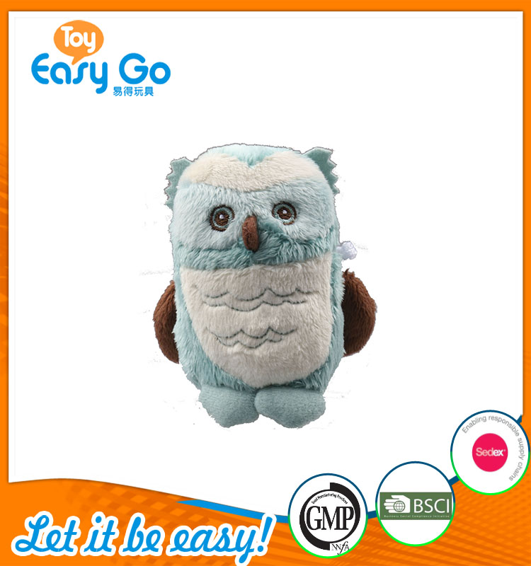 high quality customized production cute little blue owl plus