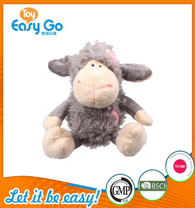 high quality customized production gray sheep with pink flow