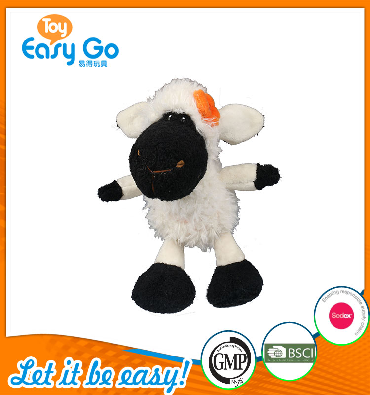high quality customized production white and black sheep plu
