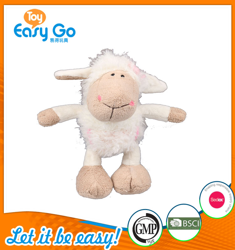 high quality customized production white sheep with pink flo