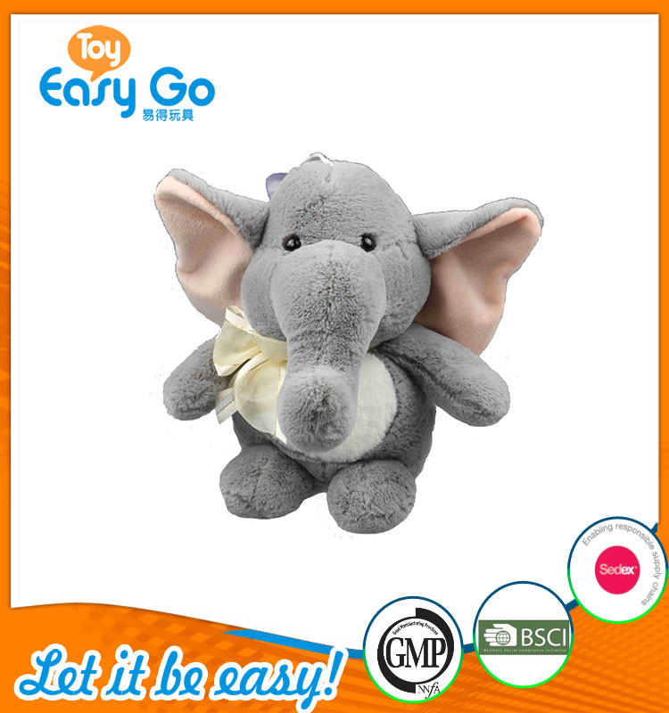 high quality customized production cute light gray elephant