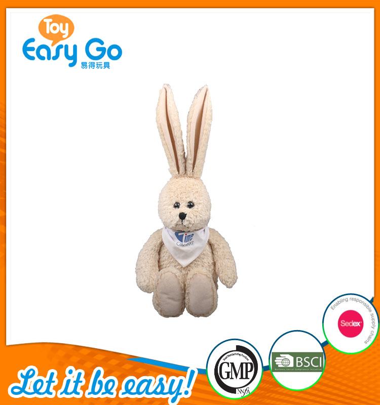 high quality customized production cute yellow white rabbit