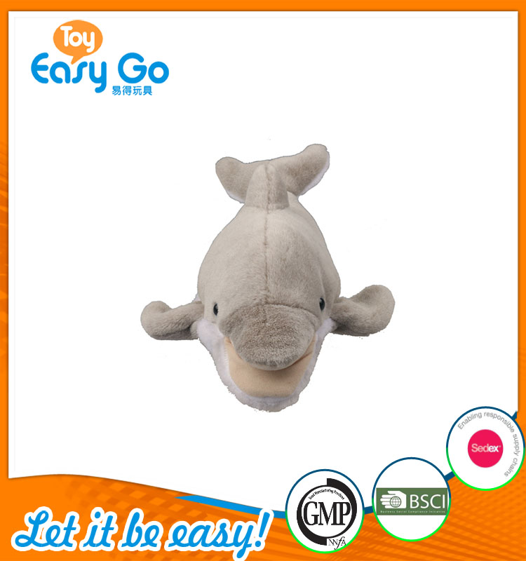 high quality customized production cute grey shark plush toy