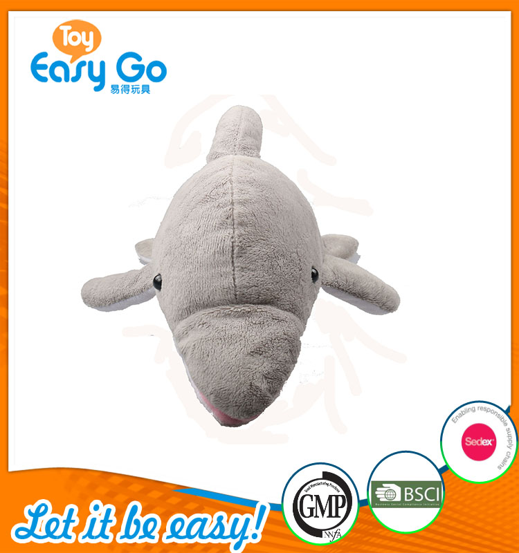 high quality customized production cute grey with sound shar
