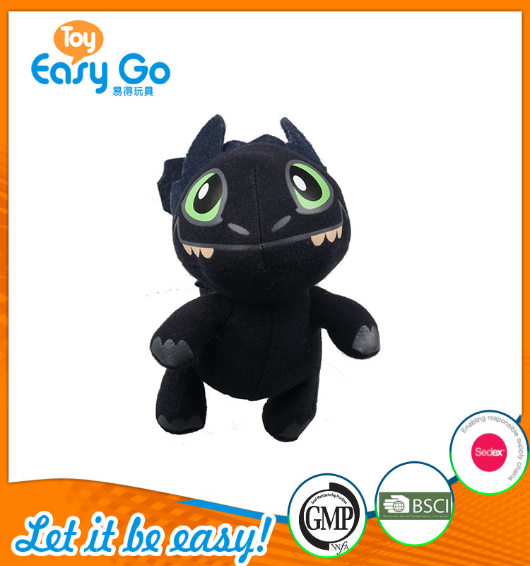 high quality customized production cute little black dragon