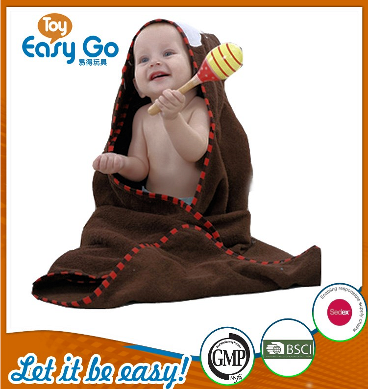 Wholesale cute brown monkey bathrobe for baby