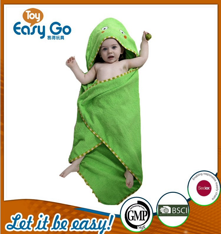 Wholesale cute green frog bathrobe for baby