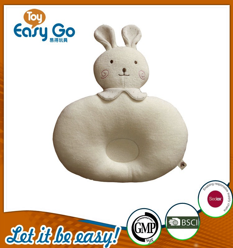 OEKO high quality plush beige rabbit baby pillow