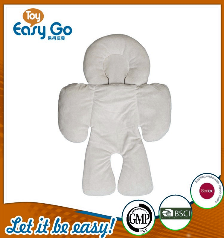OEKO high quality plush white baby car pillow